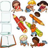 Kids school set — Stock Vector