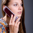 Young woman talking on cell phones — Stock Photo #13532331