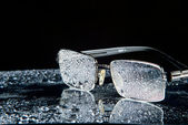 Water droplets on the glasses — Stock Photo