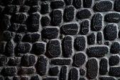 旧的黑色皮革与剪纸艺术,背景. — 图库照片