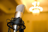 Microphone in the conference hall. — Stock Photo