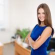 Portrait of a beautiful happy business woman — Stock Photo