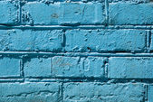 Painted brick wall sky blue background — Stock Photo