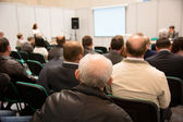 Speech at the conference hall.  — Stock Photo