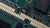 Memory modules close-up — Stock Photo