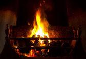 Open coal fire — Stock Photo