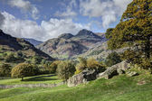 The Langdale Pikes from Copt Howe — Stock Photo