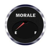 Morale meter reading empty — Stock Photo
