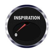 Inspiration meter reading zero — Stock Photo