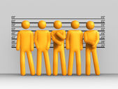 The Usual Suspects — Stock Photo