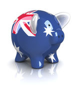 Piggy Bank - Australia flag — Stock Photo