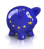 Piggy bank - europeiska unionen — Stockfoto