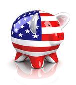 Piggy bank - eua — Foto Stock