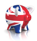 Piggy Bank - UK (Isolated) — Stock Photo