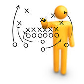 American football Strategy — Stock Photo