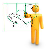 Basketball Strategy — Stock Photo