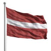 Vlag van Letland — Stockfoto