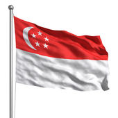 Singaporean flag — Stock Photo