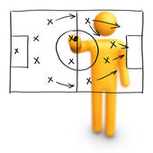 Soccer Strategy — Stock Photo