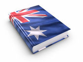 Book covered with Australian flag — Stock Photo