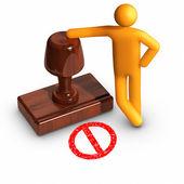 Rejection — Stock fotografie