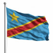 Flag of the DR Congo — Stock Photo