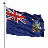Bandeira das ilhas sandwich do sul — Foto Stock