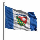Flagge der nordwest-territorien — Stockfoto