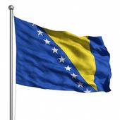 Bandera de bosnia y herzegovina. — Foto de Stock