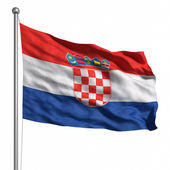 クロアチアの旗 — ストック写真