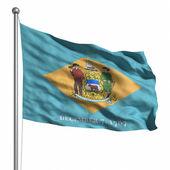 国旗的特拉华州 — 图库照片