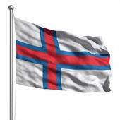 флаг фарерских островов — Стоковое фото