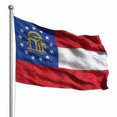 Flag of Georgia — Stok fotoğraf