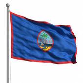Guamská vlajka — Stock fotografie