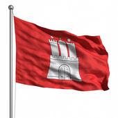 Vlajka hamburku. — Stock fotografie