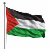 Flag of Palestine. — Stock Photo