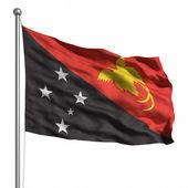 Papua yeni gine bayrağı — Stok fotoğraf