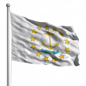 флаг штата род-айленд — Стоковое фото