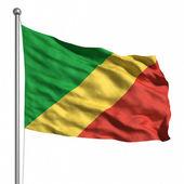 Bandiera del congo — Foto Stock