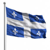 Flag of Quebec — 图库照片