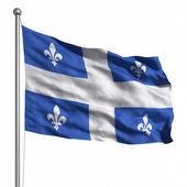 魁北克的旗子 — 图库照片