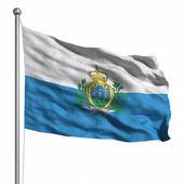 Vlajka san marino — Stock fotografie