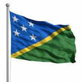 Solomon adaları bayrağı — Stok fotoğraf