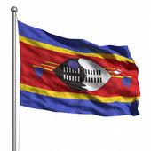 флаг свазиленда — Стоковое фото