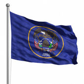 Vlajka státu utah — Stock fotografie