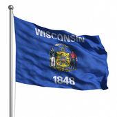 флаг штата висконсин — Стоковое фото