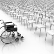 Stock Photo: Wheelchair - Individuality Concept