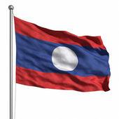 флаг лаоса — Стоковое фото