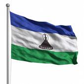 Lesothská vlajka. — Stock fotografie