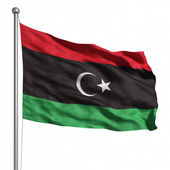 Flag of the Libyan Republic — Stock Photo
